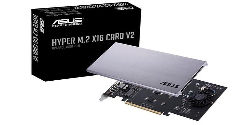 Asus actualiza la tarjeta Hyper M.2 x16 V2 NVMe RAID